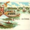 1880 postkarte aus gruenau