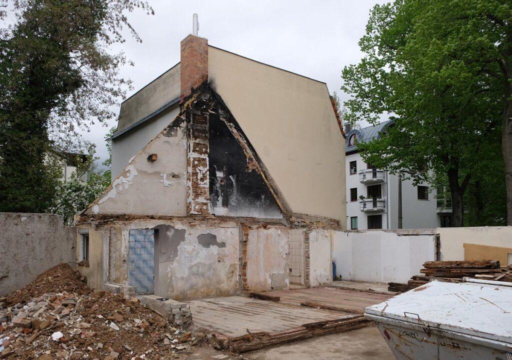 ältestes Haus Grünaus, Denkmalschutz versäumt
