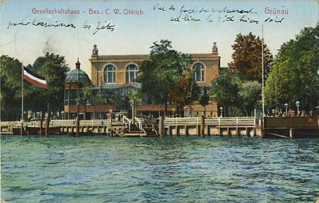 Gesellschaftshaus um 1903, Postkarte